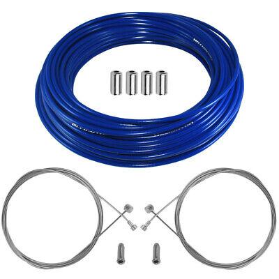 Kit brake cable sheath blue teflon road bike front rear universal atv