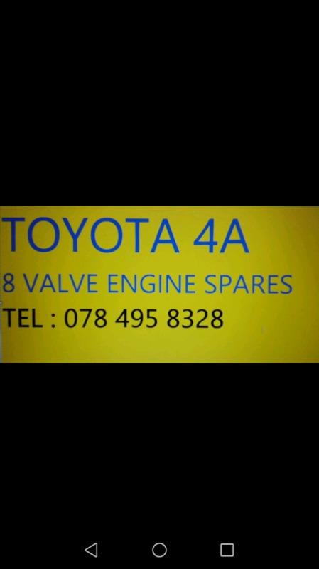 Toyota 1.6 engine spares 8v