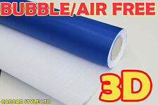 【CRYSTAL BLUE 2 Meter x 1.52 M AIR Free】CARBON FIBRE Vehicle Wrap Vinyl Sticker