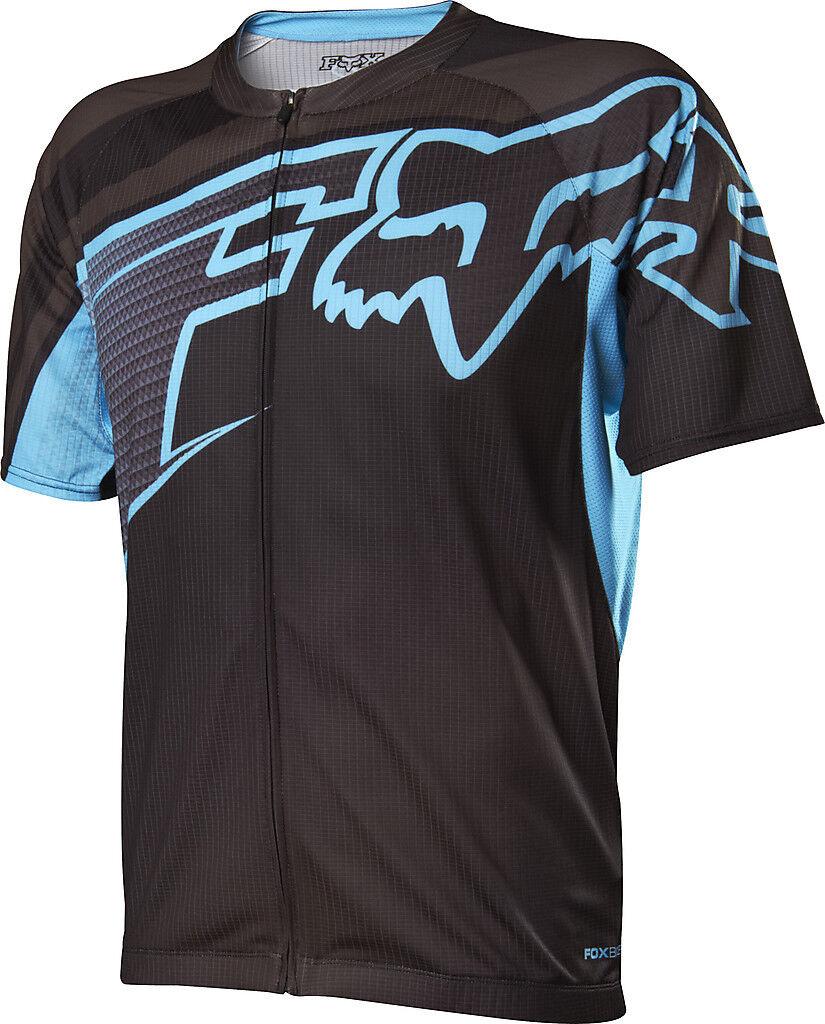 Fox Racing 2014 Livewire Descent s s Jersey Light Blau