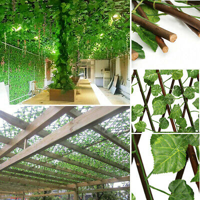 Garden Screen Fence Expandable Artificial Faux Ivy Leaf Hedge Panel On Roll 70cm