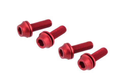 Red US Seller x4 Bike M5x20mm Water Bottle Cage Pump Bolt w// Washer Screws