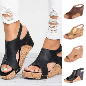 Sandales-Compensees-Femme-Chaussures-A-Talons-Haut-Plateforme-Espadrilles-Plage