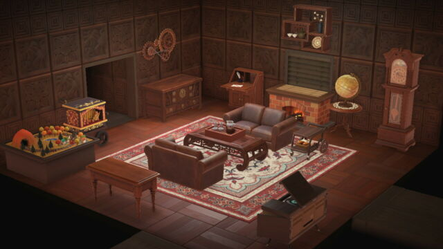 Animal Crossing New Horizons Classic Living Room Antique ... on Living Room Animal Crossing New Horizons  id=76828