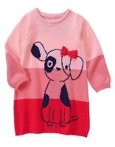 ed9e1fdb8 Gymboree Fun at Heart Valentine s Day Puppy Dog Sweater Dress Girls ...