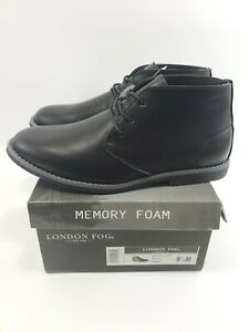 London-Fog-Mens-Broadstreet-Black-Chukka-Boot-Size-9-5-M