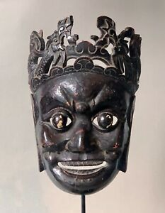 Masque-Nuo-Chine-du-Sud-Ouest-19-eme-siecle-Asie-art-tribal