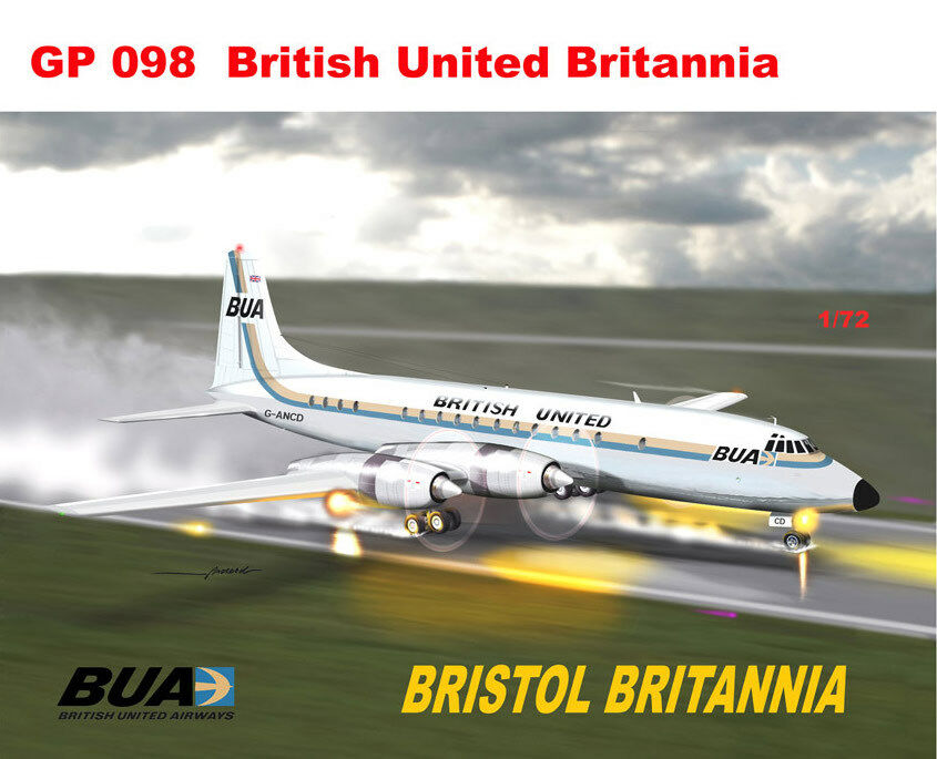 Mach 2 1 72 Bristol Britannia BUA British United GP098