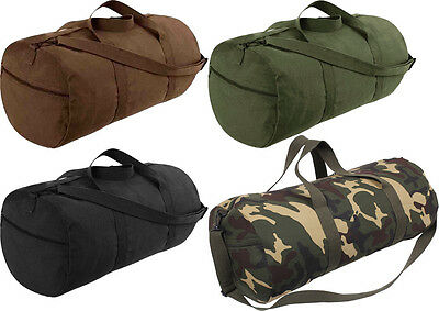 "Heavy Canvas Gym Recreational Travel Shoulder Duffle Bag - 24"" x 12"""