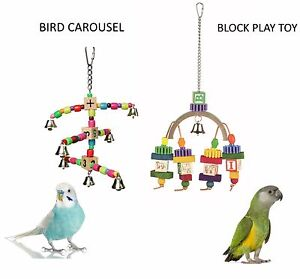 SMALL-BIRD-OR-PARROT-PARAKEET-RAINBOW-BLOCK-W-BEADS-CAGE-PLAY-TOYS-2-STYLES