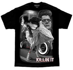Bride-Of-Frankenstein-Rockabilly-Pinup-Tattoo-David-Gonzales-DGA-Art-T-Shirt