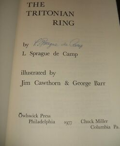 Signed-1st-thus-edition-of-THE-TRITONIAN-RING-by-L-Sprague-De-Camp-1977