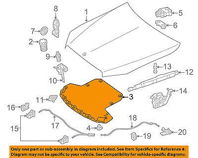 OEm under Hood Liner Heat Shield Insulation Pad For Mercedes sL320 sL500 sL600