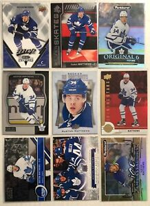 Auston-Matthews-9-Card-Lot-O-Pee-Chee-Upper-Deck-Portraits-Rookies-Maple-Leafs