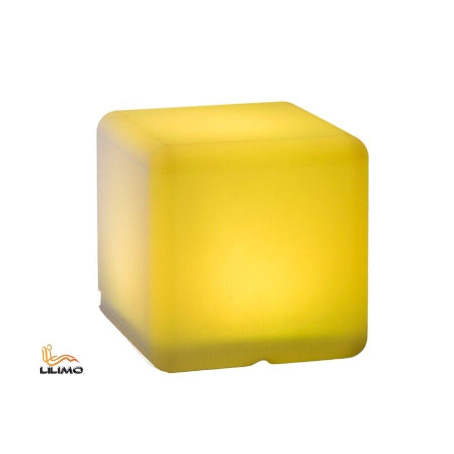 LED-Leuchte CUBE 30x30 cm, multi-Farbe, Lampe mit 60 LED's, Fernbedienung, IP44,