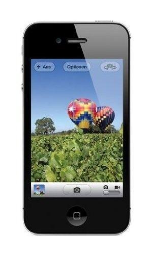 "Apple iPhone 4S 16GB schwarz IOS 3,5"" Display Smartphone ohne Simlock 8MP Kamera"