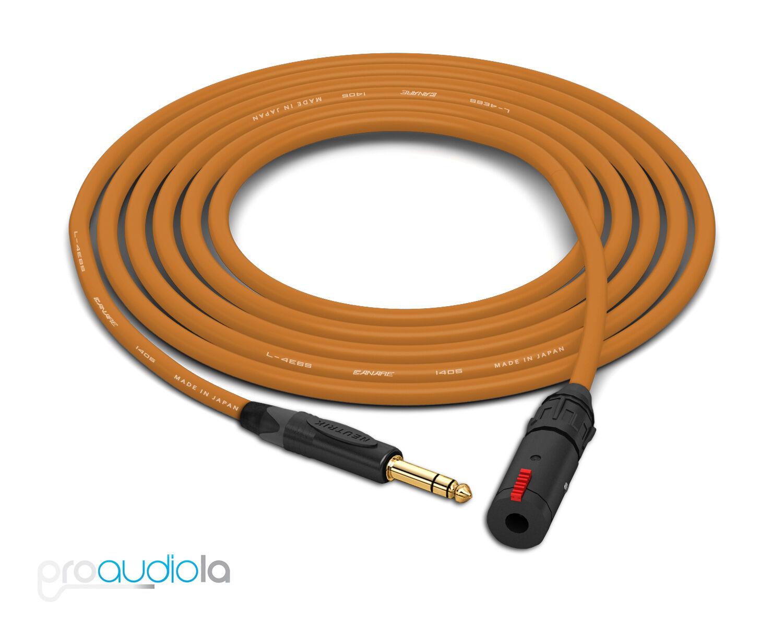 Canare Quad Quad Quad L-4E6S Auriculares Cable de extensión   Neutrik oro TRS   Marrón 45 pies  varios tamaños