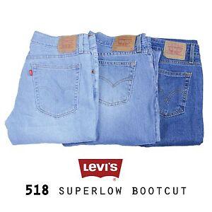 06a582eca29 LEVIS 518 JEANS DENIM SUPERLOW BOOTCUT VARIOUS 26 27 28 29 30 31 32 ...