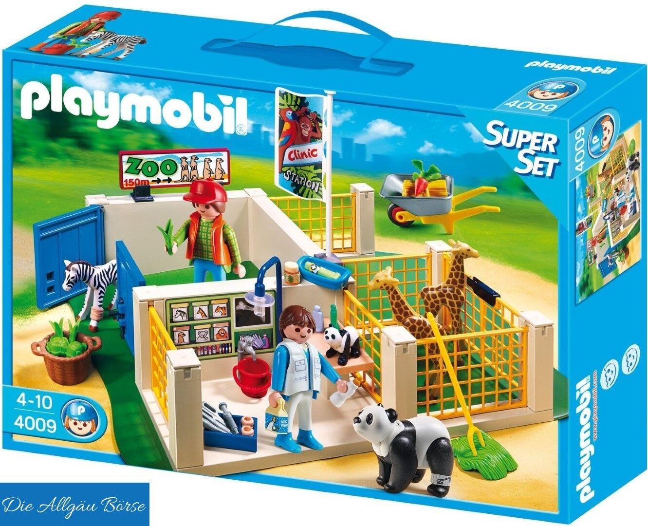 Playmobil 4009 Super-Set Zoo-Pflegestation City Life Tierpfleger selten Neu OVP
