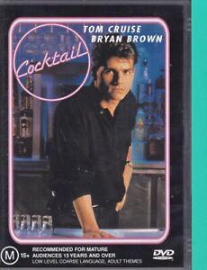 Cocktail-2L-DVD-2002-Region-4-Tom-Cruise-Bryan-Brown