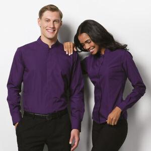 Kustom-Kit-Mens-Mandarin-Collar-Easy-Iron-Fitted-Workwear-Long-Sleeved-Shirt-New