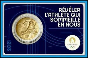 2 Euro Gedenkmünze Frankreich 2021 Olympische Spiele 2024 Paris Coin Card