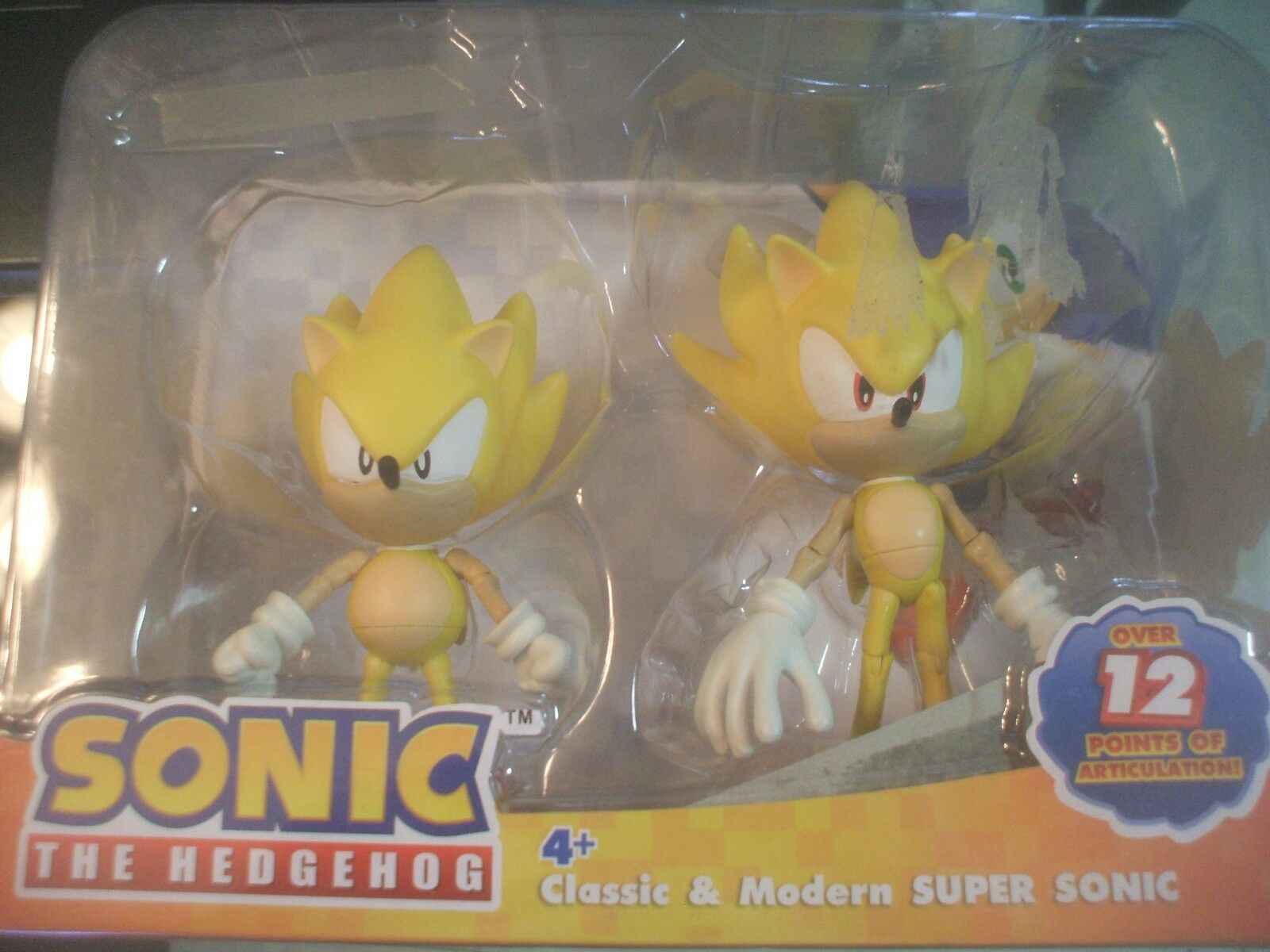 Super Sonic the Hedgehog Through Time 20th Modern Classic Action Figure Set Toy