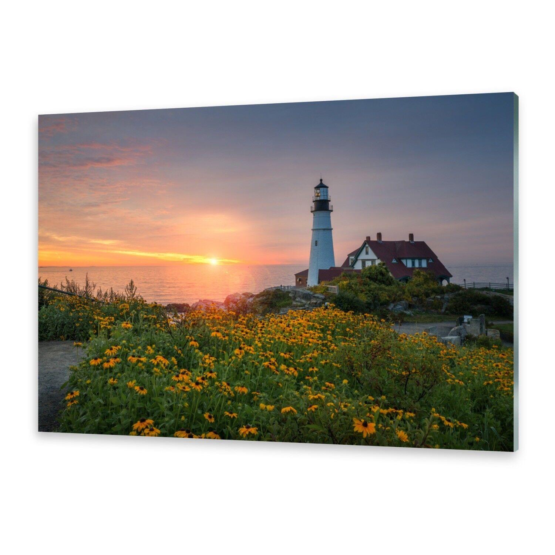 Glasbilder Wandbild Druck auf Glas Leuchtturm in Maine