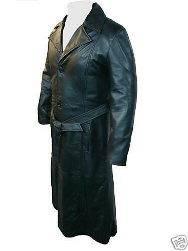 UNICORN LONDON LONDON LONDON Mens Film Movie Style Blade Full Length Leather Coat  B1 | Große Ausverkauf  b72f47