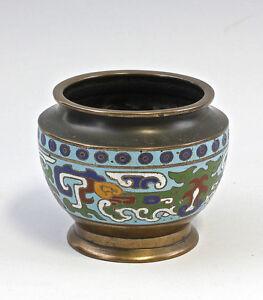 8339040 Cloisonné-vasenschale Vase Schale Messing Alt Verhindern Den Teint Zu Erhalten Dass Haare Vergrau Werden Und Helfen