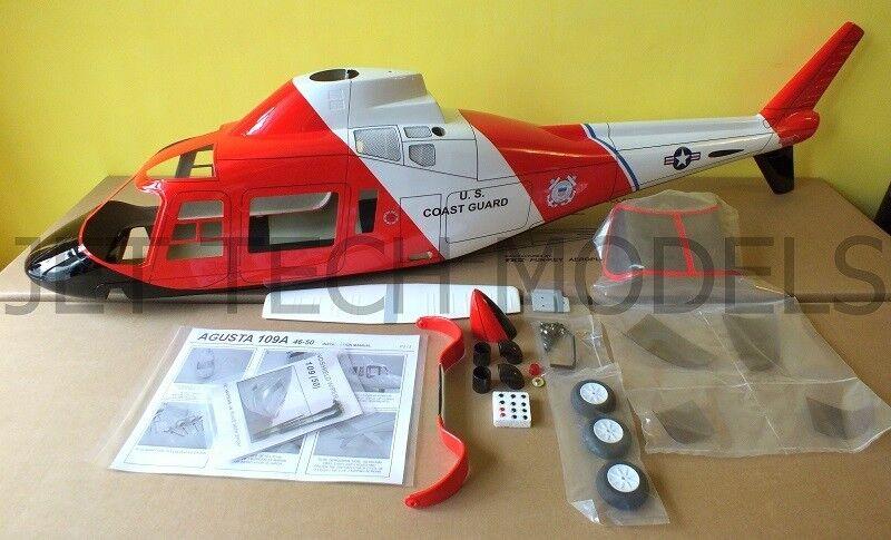 FUNKEY Scale fuselage Agusta 109A .50 (600) size size size Coast Guard color+ Landing gear 160d6e