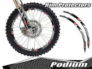 INCH DIRT BIKE RIM PROTECTORS WHEEL DECALS TAPE GRAPHICS - Decal graphics for dirt bikes