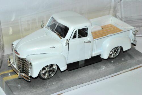 Chevrolet Chevy 3100 Pickup Weiss 1953 Tuning 1//24 Jada Modell Auto mit oder ohn