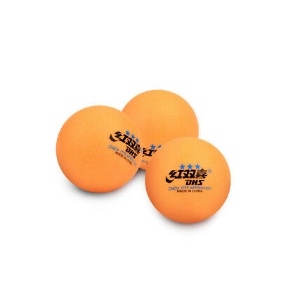 3Star Table Tennis Plastic PingPong Balls White Orange Double Happiness DHS D40