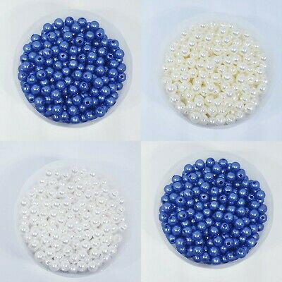 Pearl Beads  8mm 50 psc For Jewellery Making Crafts Buy 3 Get 3 For Free