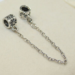 New Authentic Pandora Charm Daisy Safety Chain 790385 05 W Suede Pouch Ebay