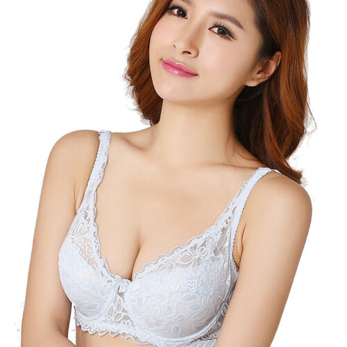 Large Bosom Lace Elegent Bra for Women Ladies T-shirt Minimizer Plunge Lingerie
