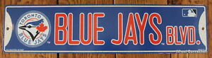 Street-Sign-Toronto-Blue-Jays-Blvd-MLB-Lic-Baseball-full-colorful-picture