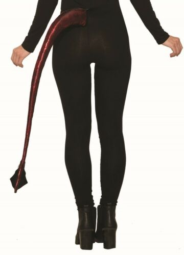 "Demons /& Devils 32/"" Long Red Devil Tail Demon Satan Clip-On Costume Accessory"