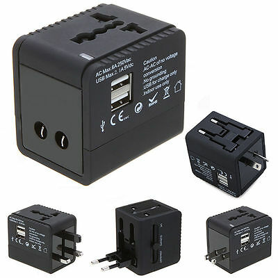 Universal Travel All in One Power Wall Plug Adapter Converter Charger USB 6A