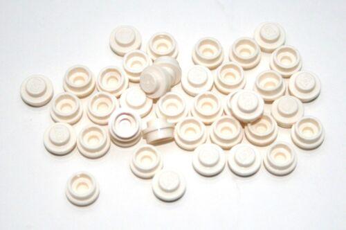40x Lego ® Plaque 1x1 environ 4073 NOUVEAU blanc