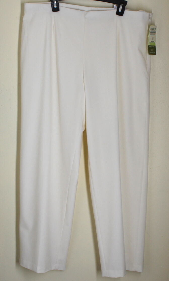 NWT Coldwater Creek 4 Season Holly Fit Winter White Lined Knit Easy Pants SZ 20