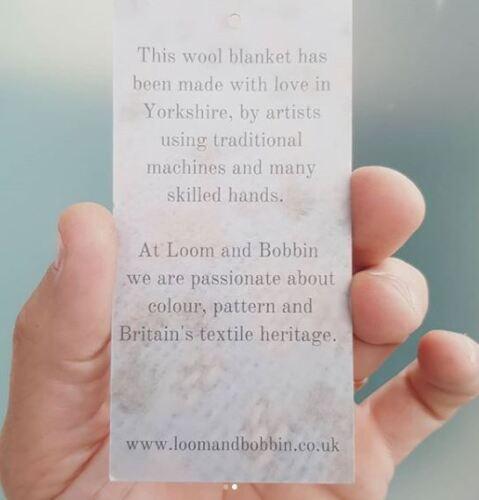 Raspberry Loom /& Bobbin UK Made Wool Blanket Welsh Tapestry Fair Isle Design