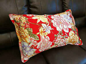 New 100 Silk Oxford Pillowcase Pillow Shams Red Floral