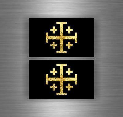 Sticker car biker jerusalem airsoft decal crusader cross templar knights die cut