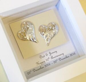 10th-Tin-11th-Steel-wedding-anniversary-gift-personalised-Framed ...