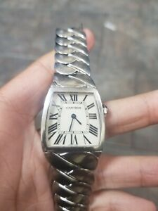 Ladies-Cartier-Stainless-Steel-2835-Missing-Clasp-And-Shot-Linked-Watch