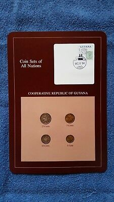 Coin Sets of All Nations Surinam Suriname 4 coin 1980-1985 UNC w//card
