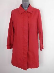 WOMENS-GAP-RED-ZIP-BUTTON-UP-SINGLE-BREASTED-WINTER-COAT-JACKET-SIZE-UK-S-SMALL