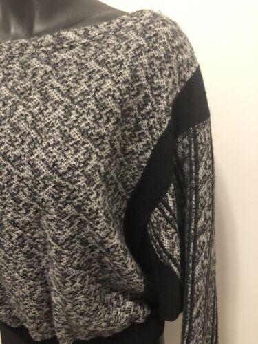 Trøje l M Beskåret Kvinders Made Pullover Sort Santana In Hvid Italy Strik TFfqYnqBS